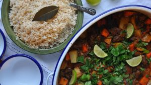 Jamaican-style curry lamb