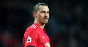 "Zlatan Ibrahimovic: ""We all think it's his last season at Manchester United,"" José Mourinho said. Photograph: Alex Livesey/Getty"