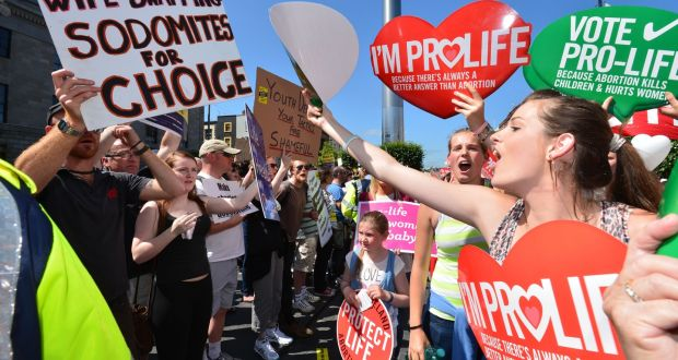 The  Rally For Life Anti Demonstration In Dublin The Government Expects To Publish