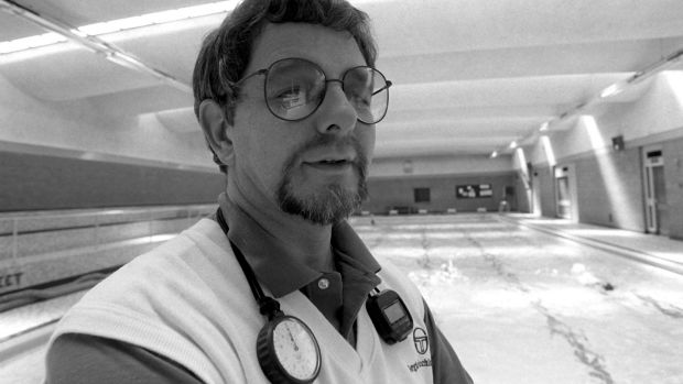 Former Irish swimming coach George Gibney in 1988. Photograph: Billy Stickland/Inpho