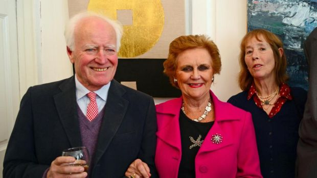 Consuelo O'Connor (centre) with Desmond Guinness and Penny Guinness. Her access was enviable: high-profile people from the professions of law, media, church, arts, State, education, and business all talked to her. Photograph: Eric Luke