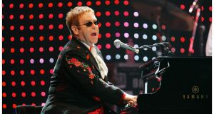Elton John: told the audience: 'No more coming on stage, you f**ked it up.' Photograph: Bryan O'Brien/The Irish Times