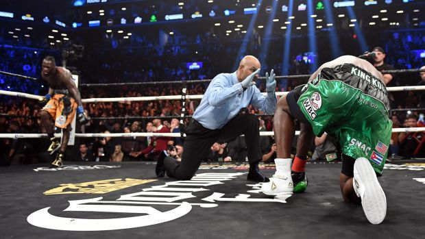 Heavyweight champion Deontay Wilder KOs Luis Ortiz to remain undefeated