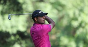 Shubhankar Sharma leads heading into the final round in Mexico. Photograph: Rob Carr/Getty