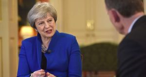 Brexit Britain: for the first time Theresa May has told her country that leaving the EU will have costs. Photograph: Jeff Overs/BBC/PA Wire