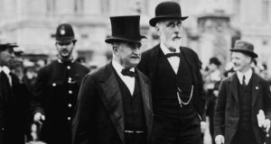 Leader of the Irish Parliamentary Party John Redmond with Irish nationalist politician John Dillon circa 1910. Photograph: Hulton Archive/Getty
