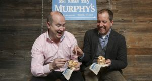 Niall Dorrian, chief executive of Linked Finance with Kieran Murphy, founder of Dingle, Co Kerry-based Murphy's Ice Cream. Photograph: Conor McCabe