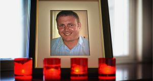 Det Garda Donohoe (41) was killed when he was shot at close range in the car park of the Lordship Credit Union, Bellurgan, Jenkinstown, on the Cooley peninsula, at 9.30pm on January 25th, 2013.   Photographer: Dara Mac Dónaill / The Irish Times