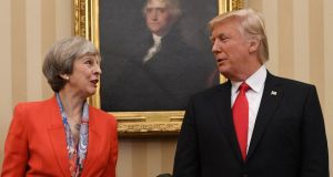 Post-Brexit trade deal: Theresa May has strongly signalled a desire to negotiate a bilateral agreement with the United States. Photograph: Stefan Rousseau/PA Wire