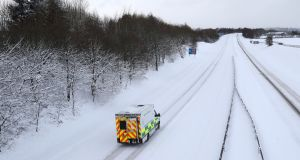 Many hospital appointments were cancelled in the snow: File photograph: Andrew Milligan/PA