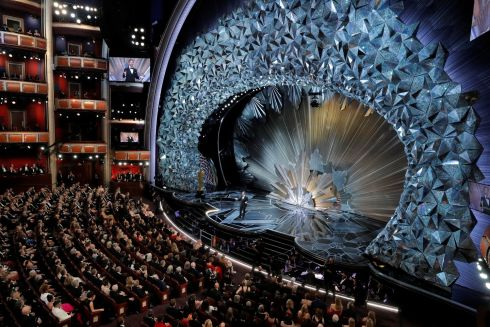 90th Academy Awards -  Host Jimmy Kimmel opens the show. Photograph: Lucas Jackson / Reuters