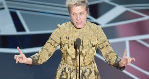 'I have two words to leave with you tonight, ladies and gentlemen: inclusion rider,' Frances McDormand said at the end of a rousing acceptance speech for the Best Actress Oscar.