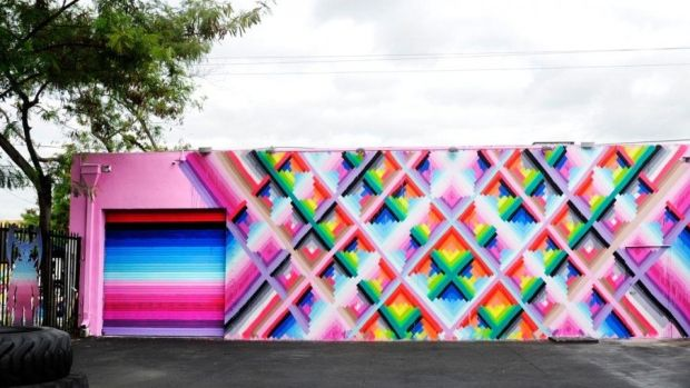 Maya Hayuk painting at Wynwood Walls