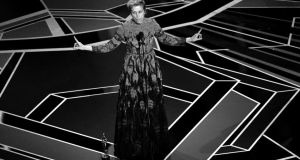Frances McDormand accepts Best Actress for 'Three Billboards Outside Ebbing, Missouri'. Photograph: by Kevin Winter/Getty Images