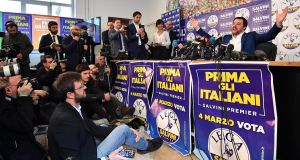 Lega leader Matteo Salvini: the party represents Italy's wealthy north and taxpayers who resent corruption. Photograph: Daniel Dal Zennaro