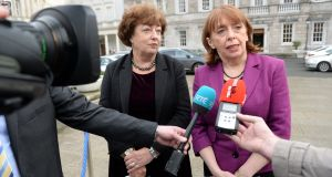 Róisín Shortall (right) said 'no effort'  being made to check whether schools are cutting costs for parents. File photograph: Cyril Byrne