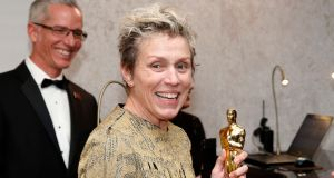 Frances McDormand attends the Governors Ball  at the Dolby Theatre in Los Angeles. Photograph: Eric Jamison/Invision/AP