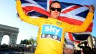 British cyclist Bradley Wiggins celebrating his win in the Tour de France in 2012. Photograph: Pascal Pavani/AFP/Getty Images)