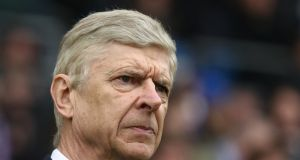 Arsene Wenger:  has accepted that a top-four finish is out of the equation. Photograph: Catherine Ivill/Getty Images