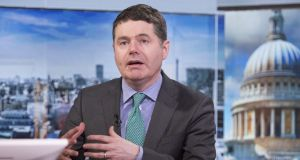 "Minister for Finance  Paschal Donohoe: ""It is critical that we have a strong backstop in place to manage many of the difficult developments that could take place during the Brexit process."" Photograph: Jason Alden/Bloomberg"