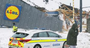 Staff at the damaged Lidl store in Tallaght won't lose their jobs, the company has confirmed. Photograph: Stephen Collins/Collins