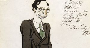 Lot 69, is a pen ink and watercolour cartoon, dated 1929, of Éamon de Valera