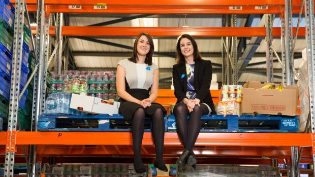 FoodCloud co-founders Iseult Ward and Aoibheann O'Brien have connected more than 2,000 shops across Ireland and the UK with about 5,000 charities through food waste collection. Photograph: Naoise Culhane