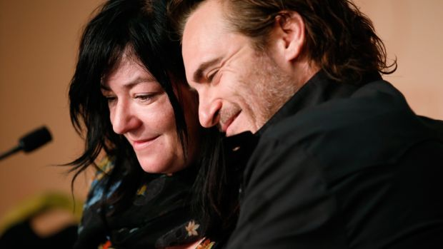 Director Lynne Ramsay and Joaquin Phoenix at the 'You Were Never Really Here' press conference during the Cannes Film Festival in May 2017. Photograph: Getty Images
