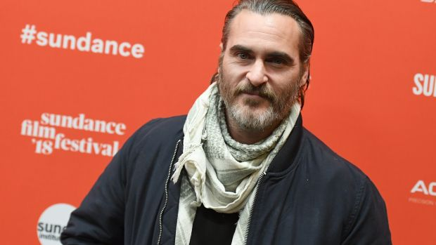 Joaquin Phoenix attends the premiere of Gus Van Sant's 'Don't Worry, He Won't Get Far On Foot' at the 2018 Sundance Film Festival in Park City, Utah. Photograph: Angela Weiss/AFP/Getty Images
