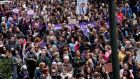 "The ""March for Women"" in Vigo, Spain this week. Thousands attended the march ahead of International Women's Week calling for gender equality. Photograph: Salvador Sas/EPA"