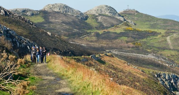 A part of Bray-Greystones cliff walk with a view of Bray Head in the 9f56f161920