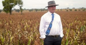 Barnaby Joyce has resigned as deputy prime minister and leader of the Nationals. Photograph:  AAP/Lukas Coch/via Reuters