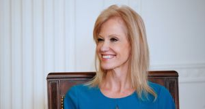 Kellyanne Conway,  special counsellor to the president: government officials are prohibited from using their positions for partisan political purposes. Photograph: AFP/Getty Images
