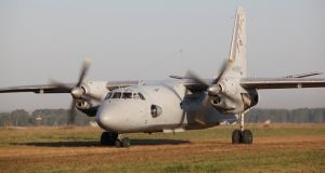 A Russian An-26 military transport plane  iin Chelyabinsk region, Russia. A plane of the same type has crashed  in Syria . File photograph: Interpress/Vladislav Belogrud via Reuters