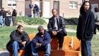 Michael B Jordan, Tray Chaney, Larry Gilliard Jr and JD Williams in season one of The Wire. Photograph: HBO/The Guardian