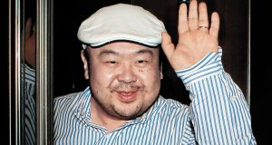 Kim Jong-Nam, the eldest son of North Korean leader Kim Jong-Il, waves after an interview with South Korean media representatives in Macau in 2010. Photograph: JoongAng Sunday/AFP/Getty Images
