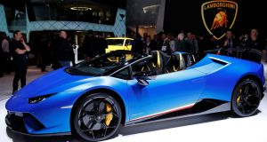 The Lamborghini Huracan Performante Spyder, one of the multiple supercars unveiled at the Geneva show. For all the talk of eo-friendly motoring and low emissions, there's still some menace on offer in the motoring world