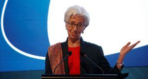 International Monetary Fund managing director Christine Lagarde warned that the economic impact of US import tariffs would be serious if other countries respond with their own barriers. Photograph: Reuters