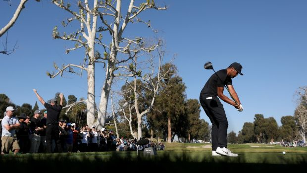 Tony Finau leads the driving distance stats on the PGA Tour this season with an average of 323.7 yards. Photo: Christian Petersen/Getty Images