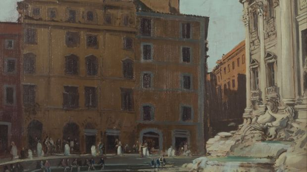 Cecil Maguire's Trevi Fountain, estimated at €3,000-€5,000, which will be for auction at Mullen's Auctioneers