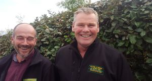 Peter O'Toole and Ciarán O'Brien, respectively director and chief executive of Peter O'Brien and Sons Landscaping Ltd.