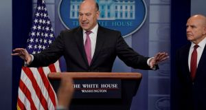 White House chief economic adviser Gary Cohn resigned on Tuesday. Photograph: Reuters