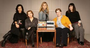 The Women's Prize for Fiction judges with the longlisted titles