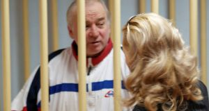 File photograph of Sergei Skripal at a hearing at the Moscow military district court, Russia, in August 2006. File photograph: Kommersant/Yuri Senatorov via Reuters