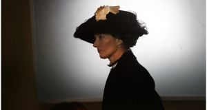 Actress Joely Richardson plays Countess Markievicz during the filming of a  series about the making of the Titanic in 2011. Photograph: Bryan O'Brien/THE IRISH TIMES