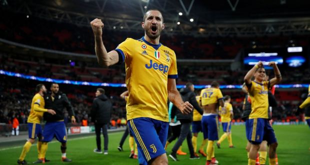 e6d21737d93 Giorgio Chiellini celebrates Juve s win at Wembley. Photograph  Eddie  Keogh Reuters