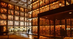 Interior of the Beinecke Rare Book and Manuscript Library at Yale University in New Haven, Connecticut, designed by architect Gordon Bunshaft.  Photograph: Nathan Benn/Corbis via Getty Images