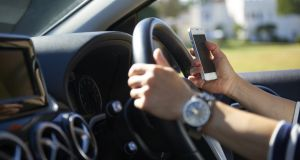 Last year 77,414 penalty points were issued to motorists detected driving while holding a mobile phone