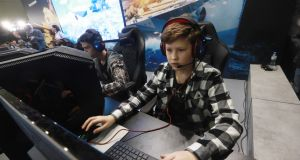 Online gaming is much more popular among boys than girls. Throughout primary school they play online games four times more than their female peers. Photograph:  Getty Images