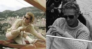 Aran jumper: Grace Kelly and Steve McQueen